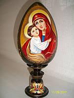 Яйцо деревянное на подставке Матерь Божия