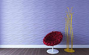 Волна 3D панели гипсовые