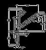 Смеситель TEKA AURA L (AUK 913) хром/гранит(черный металлик) , фото 2