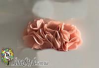Повязка на голову Цветы оранжевая повязочка  для детей девочек младенца новорожденной лента пов'язочка цветок