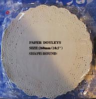 Салфетка ажурная одноразовая упаковка 250 шт d=26 (260 мм.)