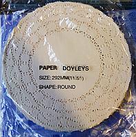 Салфетка ажурная одноразовая упаковка 250 шт d=29.2 (292 мм.)
