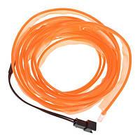 3 метра провода El прокат неоновых оранжевое свечение свет с Автомобильное зарядное устройство