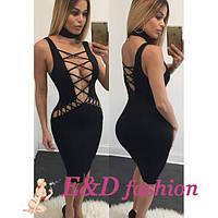 Вечернее откровенное платье черного цвета L, XL