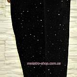 Ботфорты демисезонные замшевые черного цвета, декорированы накаткой камней., фото 2