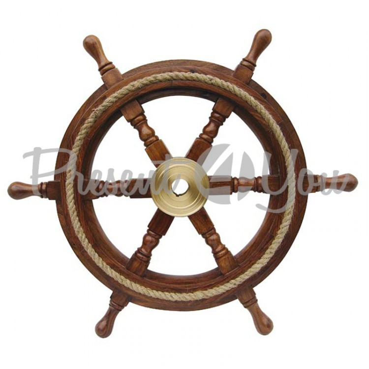 Морской сувенир штурвал Sea Club, d-45 см (1187.V)