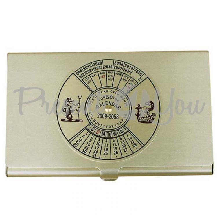 Морской сувенир визитница с вечным календарем Sea Club, 5,5х9 см. (1114.V)
