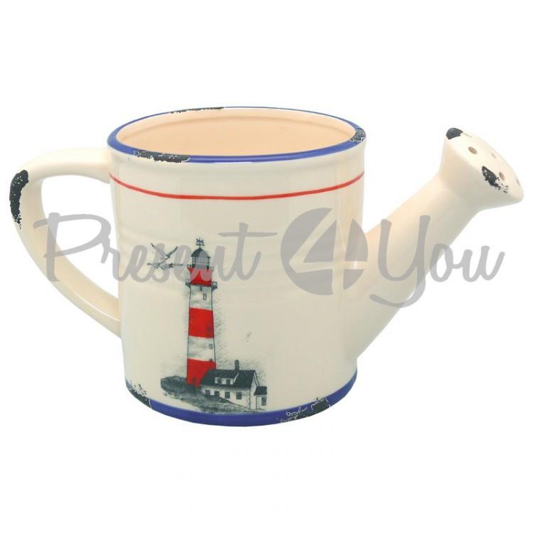 Морской сувенир лейка Маяк, керамическая, h-13 см., d-26/12 см. Sea Club (3906.V)