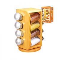 """Спецовница на деревянной подставке """"Woody"""" 8шт/наб MS-0371"""