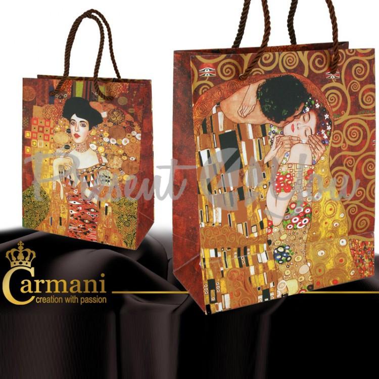 Пакет подарочний Г. Климт «Поцелуй», 32х26х12 см (036-1601)