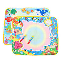 Беби детская вода живописи мат плату игрушка медведь каракули ручкой