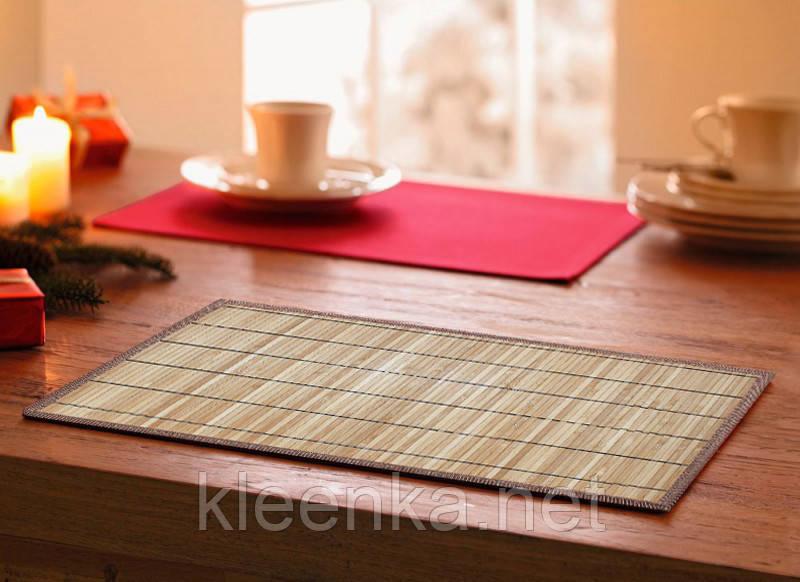 Подложка-салфетка, сет на стол бамбук 30см*45см, серветка-підставка кухонна