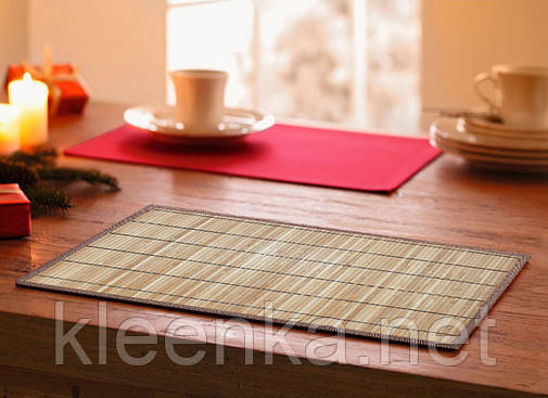 Подложка-салфетка, сет на стол бамбук 30см*45см, серветка-підставка кухонна, фото 2