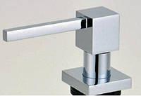 Квадратный дозатор жидкого мыла для кухонной мойки врезной