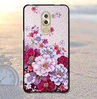 Силиконовый чехол бампер для Huawei GR5 2017 / Honor 6X с картинкой Цветы