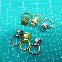 Винт кобурной с кольцом 6,5*9 мм серебро