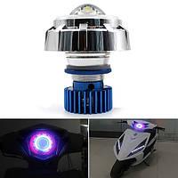 12v мотоцикл LED привет/Lo луч лазера глаза ангела фар