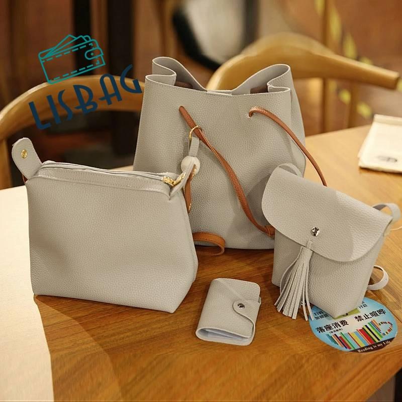 902bf319a2a5 Потрясающий функциональный набор сумок 4в1,серый цвет: продажа, цена ...