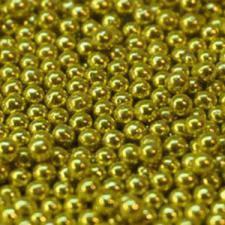 Цукрові кульки золоті 2 мм, 3 мм, 5 мм, 7 мм, упаковка 1 кг / Сахарные шарики золотые Amarischia, фото 2