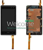 Дисплей HTC Desire 600 Dual sim,Desire 606w with touchscreen and frame black orig