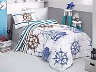 Комплект постельного белья Полуторный Ранфорс 160х220 CLASY MARINE