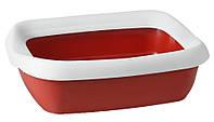 """Туалет для кошек с рамкой """"Beta Red"""", 43x31x12 см"""