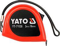 Рулетка с магнитом, измерительная лента изготовлена из стали, длина 3м х16мм