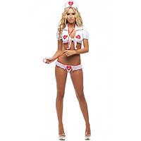 Женский игровой костюм Медсестра с топиком