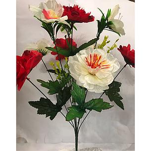 Искусственные цветы.Искусственный букет пион с орхидеей., фото 2