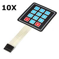 10шт 4x3 матрица 12 массив ключей мембранная клавиатура переключатель для Arduino