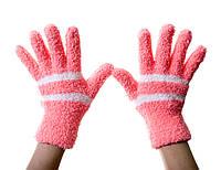Теплые детские рукавички Кораловые 8-12 лет.