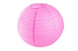 Бумажный подвесной шар малиновый, 35 см