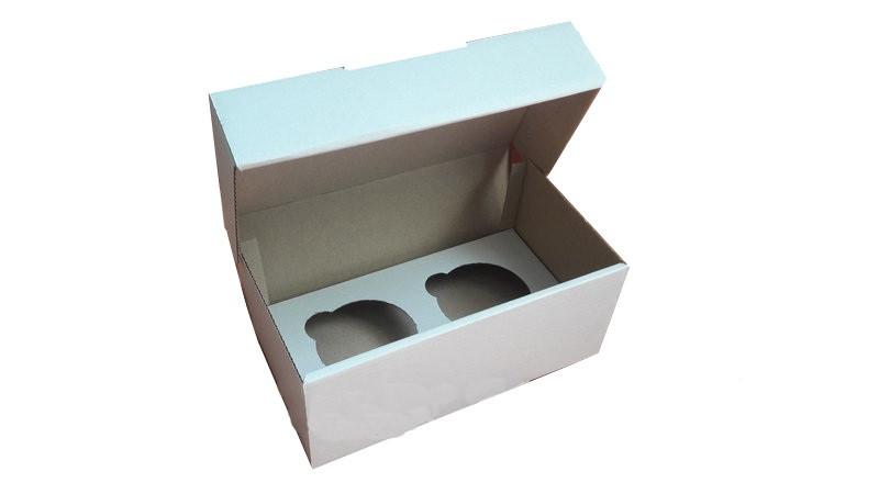 Коробка для капкейков, кексов и маффинов 2 шт 195х100х80 мм