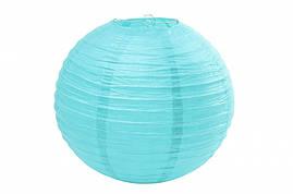 Бумажный подвесной шар бирюзовый, 35 см