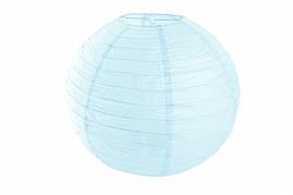 Бумажный подвесной шар светло-голубой, 35 см
