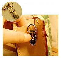 Крепление для ручки сумки ручкодержатель золото 35*11 мм