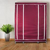 Портативный  шкаф-органайзер (3 секции) бордовый