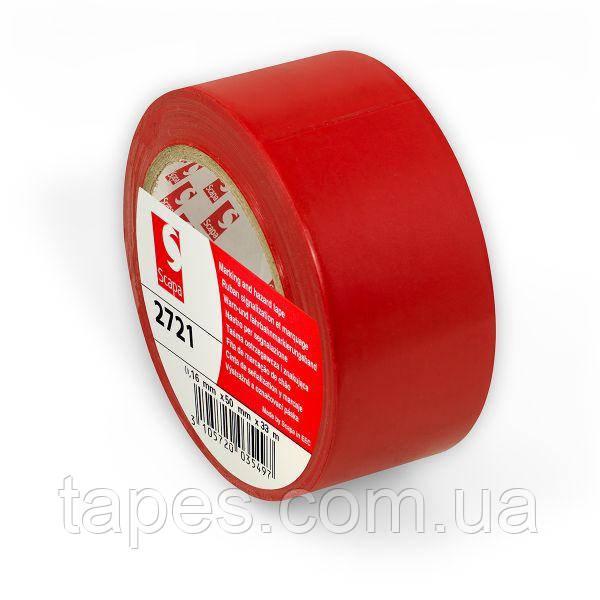 Розмічальний скотч Scapa 2721 для маркування, кольорового кодування 50мм х 33м х0,16м червоний колір