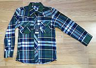 Фланелевая рубашка в клетку на мальчика (на 5-6 лет)