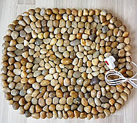 Массажный коврик из натурального камня (гальки) с подогревом, 55*65