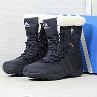 Горнолыжные ботинки для женщин Adidas Climaproof 3804 темно-синие