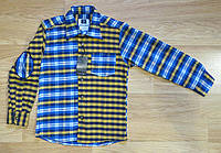 Фланелевая рубашка в клетку на мальчика (на 5-6, 7-8, 11, 12 лет)