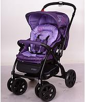 Детская коляска прогулочная универсальная с алюминиевой рамой и перекидной ручкой G328-9 фиолетовая ***