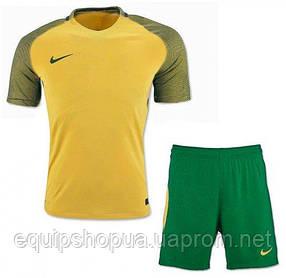 Футбольная форма игровая Nike (Найк желто-зеленая)