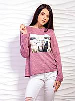 Стильная женская кофта с рисунком p.44-48 VM2123-3