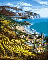 Рисование по номерам Виноградники у моря (VP862) 40 х 50 см DIY Babylon