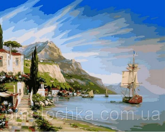 Картина по номерам Итальянская бухта (Nb851) 40 х 50 см DIY Babylon Premium
