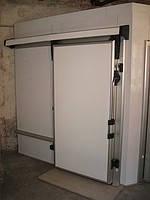 Откатные низкотемпературные двери 2200х2200