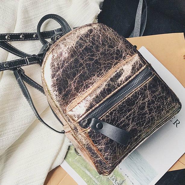 Блестящий мини рюкзак для девушки