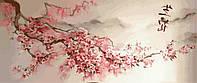 Картина по номерам Триптих Ветка сакуры (VPT029) 120 х 50 см DIY Babylon